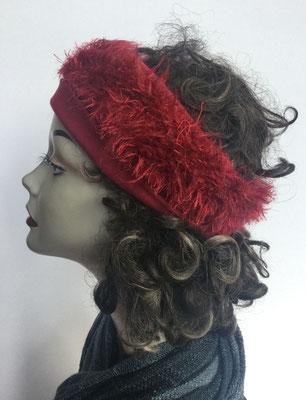 Wi 112 Stirnband rot, hier mit Perücke abgebildet