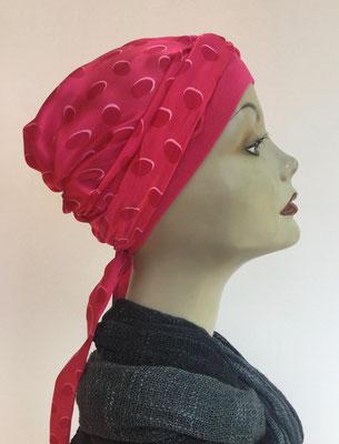 So 53 - Bajazzo Seide- pink mit Tupfen