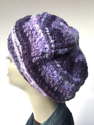 Wi 79a - Kopfbedeckung nach Chemo - Wintermodelle - Kreisel gehäkelt - violett hell dunkel
