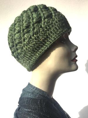 Wi 66 - Kopfbedeckung kaufen  - Artischocke gehäkelt weniger Volumen - olivgrün