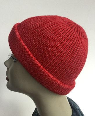 Wi 97- Vreni Lorenzini - Kopfbedeckungen kaufen- Wintermodelle - Melone gestrickt - rot