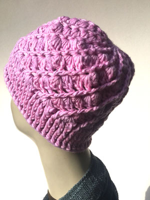 Wi 68 - Kopfbedeckung kaufen  - Artischocke gehäkelt weniger Volumen - lila