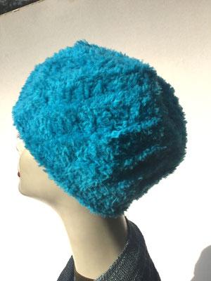 Wi 69h - Kopfbedeckung kaufen  - Artischocke gehäkelt weniger Volumen - türkis