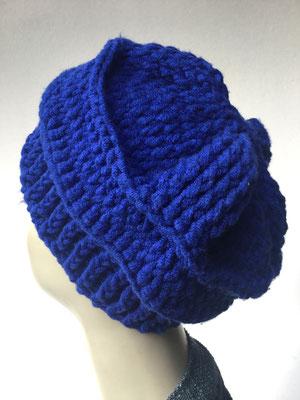 Wi 70 - Kopfbedeckung nach Chemo - Wintermodelle - Kreisel gehäkelt - Königsblau