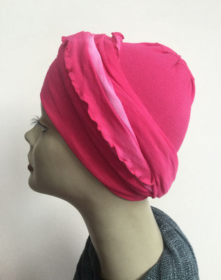 G39b - Kopfbedeckungen kaufen - Baumwollschlauch (Jersey) und Chäppli - pink