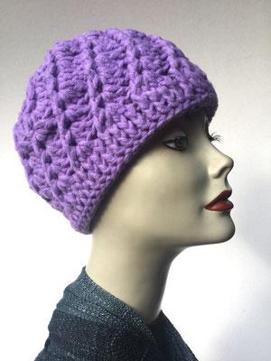 Wi 69b  - Kopfbedeckung kaufen - Artischocke gehäkelt weniger Volumen - violett