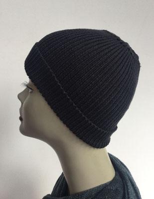 Wi 95- Vreni Lorenzini - Kopfbedeckungen kaufen- Wintermodelle - Melone gestrickt - schwarz