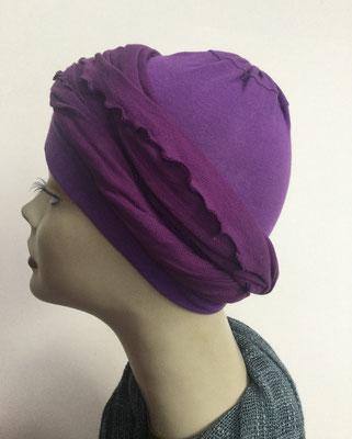 G30 - Kopfbedeckungen kaufen - Baumwollschlauch (Jersey) und Chäppli - violett