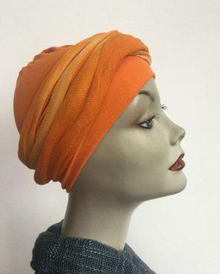 G39 - Kopfbedeckungen kaufen - Baumwollschlauch (Jersey) und Chäppli - orange