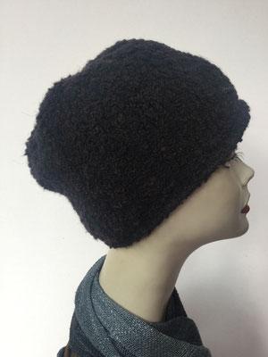 Wi 89 - Kopfbedeckung kaufen - Wintermodelle - Melone gehäkelt - schwarz