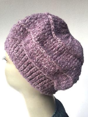 Wi 79c - Kopfbedeckung nach Chemo - Wintermodelle - Kreisel gehäkelt - vieux rosé