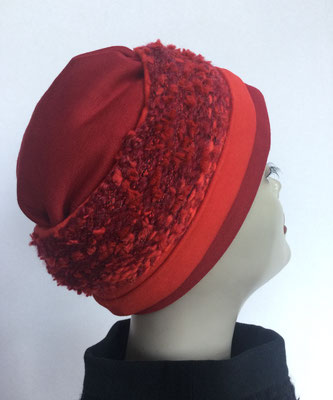 Wi 119a - Stirnband mit doppelter Baumwolle (Krempe)  - rot