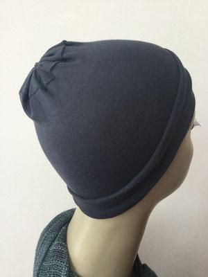 G19m - Kopfbedeckungen nach Chemo - Baumwollchäppli fein - anthrazit