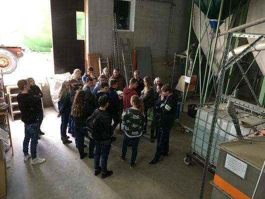 Besichtigung der BBS Schüler bei Herrn Markus in Hollenstedt