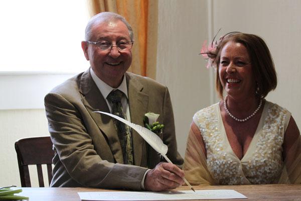Jersey Wedding Smiling Sign