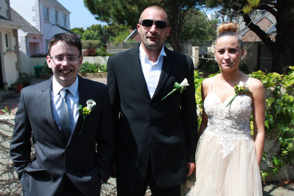 Jersey Wedding Son, Daughter and Best Man