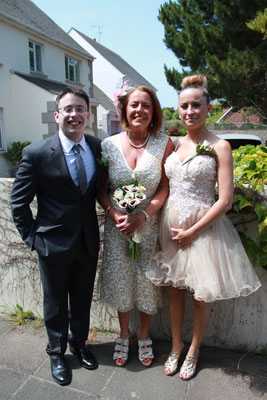 Jersey Wedding Bride, Son and Daughter