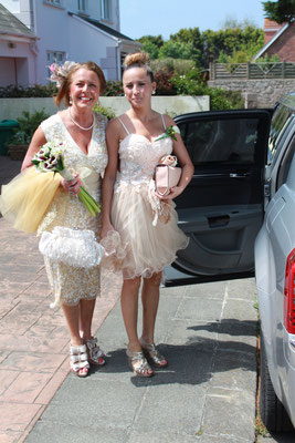 Jersey Wedding Bride and Daughter