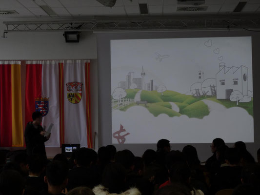 Vorstellung der chinesischen Schule für die deutschen Schüler/-Innen des Jahrgangs G10.