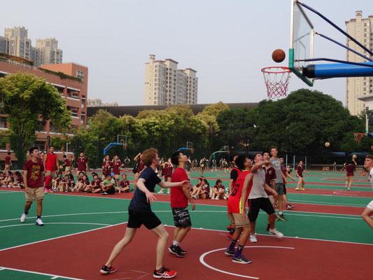 Basketball-Wettkampf: Das Spiel ging unentschieden aus.
