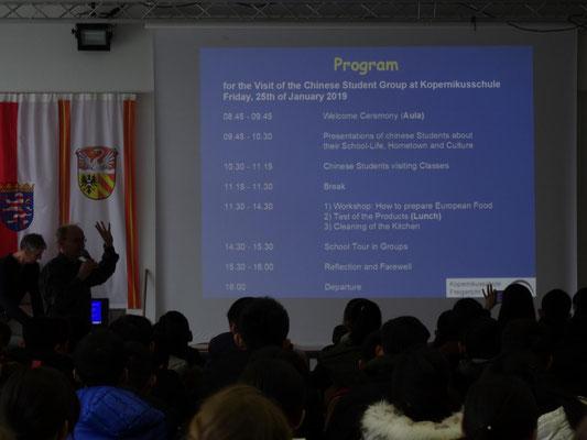 Vorstellung des Besuchsprogrammes an der KSF.