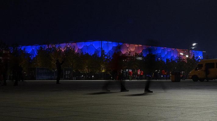 Der Water Cube, das olympische Stadium der Schwimm- und Turmsprungwettbewerbe.