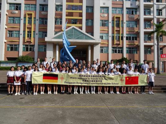 Besuch an der Dongcheng Exerimental Middle School.