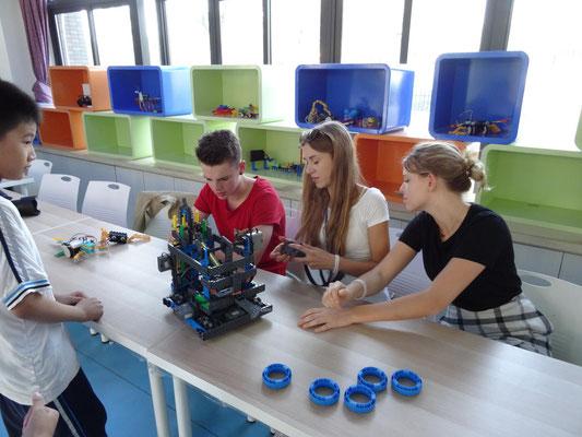 Robotics-Kurs in der Grundschule.
