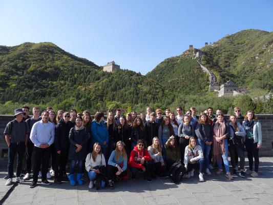 Auf der chinesischen Mauer.