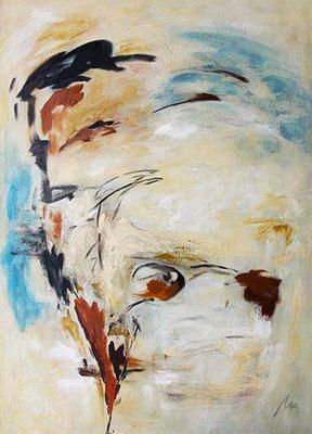 ohne Titel    Acryl auf Leinwand   140 x 100 cm