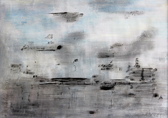ohne Titel   2015   Acryl auf Leinwand   50 x 70 cm