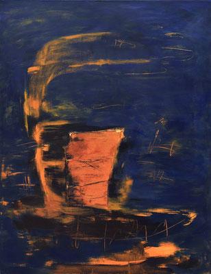 ohne Titel  1990 Acryl auf Leinwand 130 x100 cm