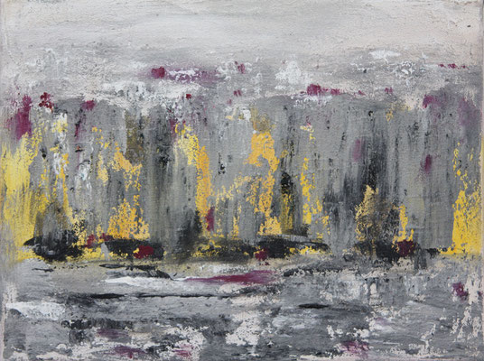 ohne Titel   2013   Acryl, Sand auf Leinwand   30 x 40 cm
