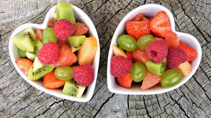 Coeurs de fruits