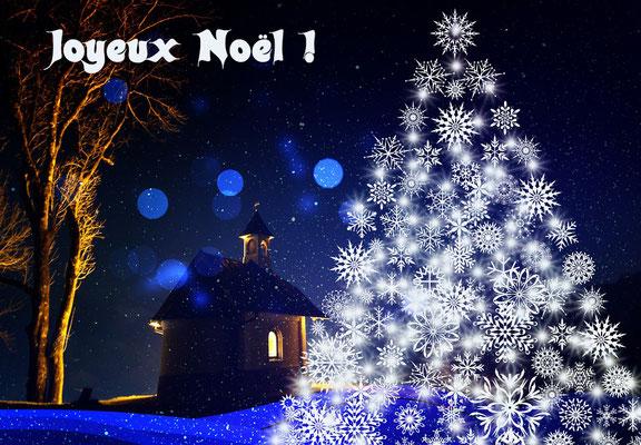 Joyeux Noël en bleu