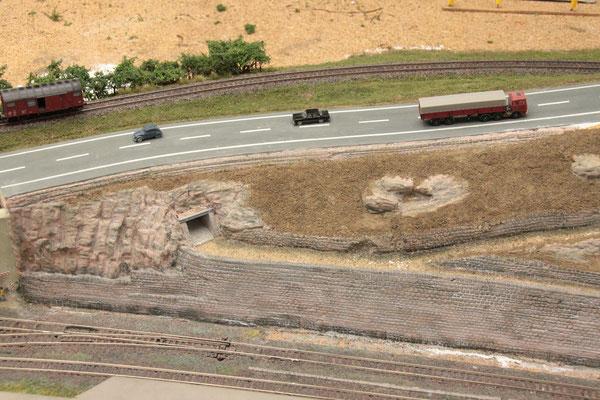 02.09.2012   Ausgangszustand des nördlichen Straßenteils.