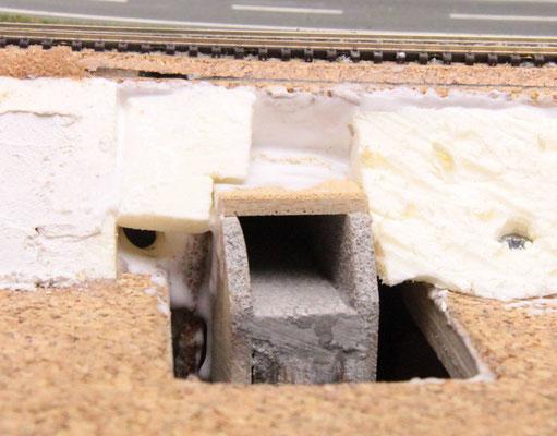04.08.2012    Der eingeschobene Tunnel von der Bw-Seite her gesehen.