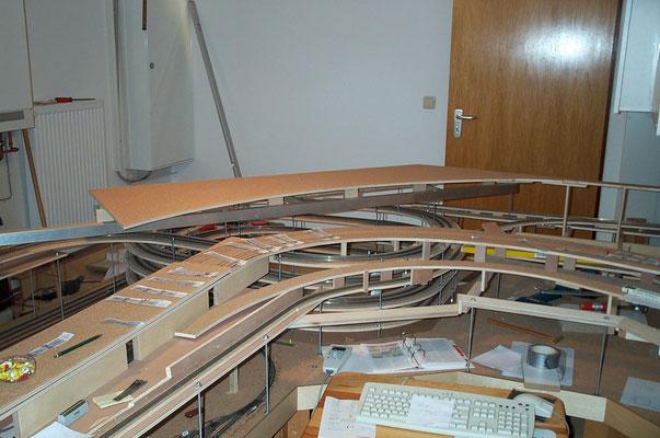 """01.01.2008   Die Grundplatte des Bahnhofes """"Johannesberg"""" aus verschiedenen Blickwinkeln."""