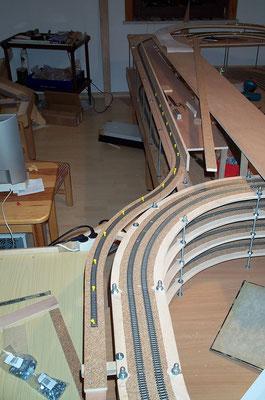 18.11.2007  Die Strecke von der Gleiswendel aus gesehen.