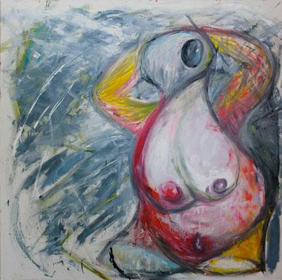FEMININ EMBODIMENT, 2000 x 2000 mm, Oil on canvas, 2014