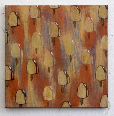 ICE CREAM RAIN, 700 x 700 mm, Oil on canvas, 2016