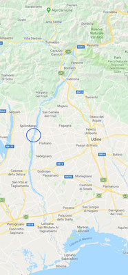 Location of examination at Taliagmento River