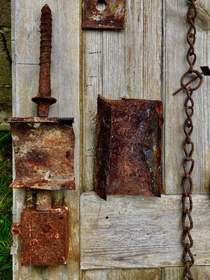 Again rusty metal objects told the most interesting but concealed stories of human activities