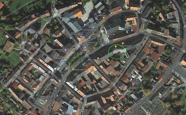 "The location of the ""Zintl Haus"""