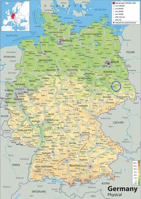 Location of Gorden-Staupitz in the former GDR