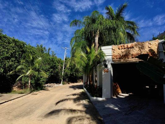 Die Situation vor Ort: Villen an der einen Straßenseite, Mangrovendschungel an der anderen