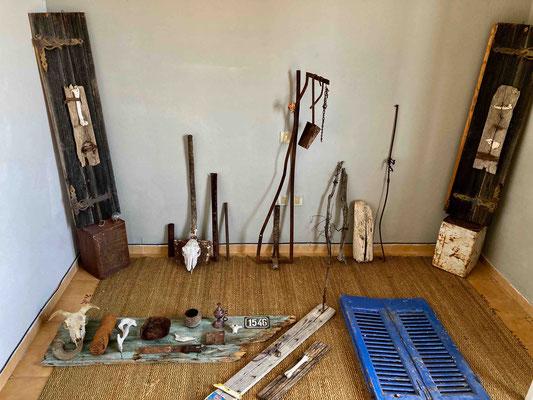 Probe-Arrangement im Ausstellungsraum