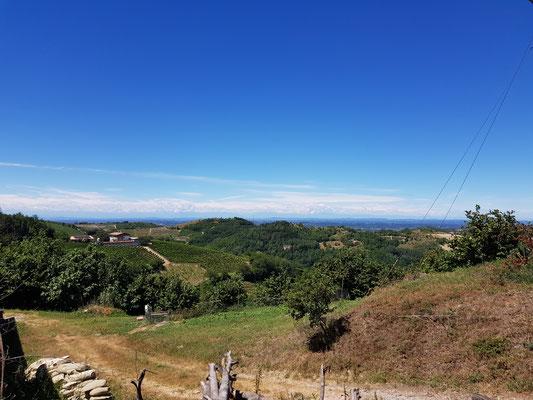 Sicht bis in die Berge