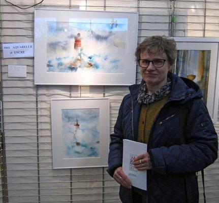 Prix aquarelle au salon d'Art de Parcay-Meslay 2018