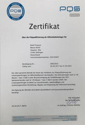 PQS-Zertifikat